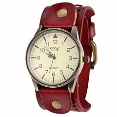 halpa Naisten kellot-Naisten Quartz Rannerengaskello Arkikello PU Bändi Viehätys Musta  Valkoinen Sininen  Punainen  Ruskea  Vihreä