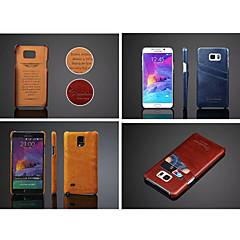 Недорогие Чехлы и кейсы для Galaxy Note 5-Кейс для Назначение SSamsung Galaxy Samsung Galaxy Note Бумажник для карт Кейс на заднюю панель Сплошной цвет Кожа PU для Note 5 Note 4
