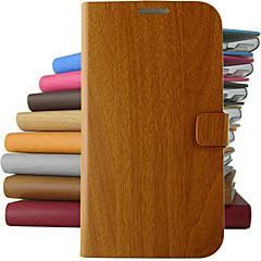 Voor Samsung Galaxy Note met standaard / Flip hoesje Volledige behuizing hoesje Houtnerf PU-leer Samsung Note 3 / Note 2