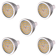 7W GU5.3 (MR16) LED-spotlampen MR16 48 leds SMD 2835 Decoratief Warm wit Koel wit 750-800lm 2800-3200/6000-6500K AC 85-265 AC 12V
