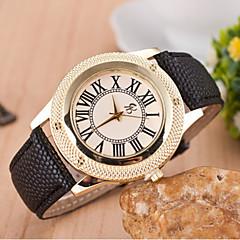 preiswerte Tolle Angebote auf Uhren-Damen Modeuhr Quartz Designer schweizerisch Leder Band Analog Schwarz / Weiß / Rot - Schwarz Beige Rot