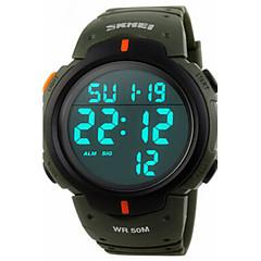 preiswerte Tolle Angebote auf Uhren-Herrn digital Armbanduhr / Sportuhr Alarm / Kalender / Chronograph / Wasserdicht / Cool PU Band Schwarz