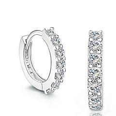 お買い得  イヤリング-男性用 女性用 合成ダイヤモンド 純銀製 クリスタル シルバー スタッドピアス  -  ファッション シルバー イヤリング 用途 結婚式 パーティー 日常
