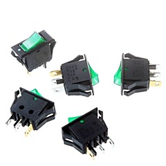 cheap -Green Rocker Switch 16 * 32mm Tripod 3P Power Rocker Switch