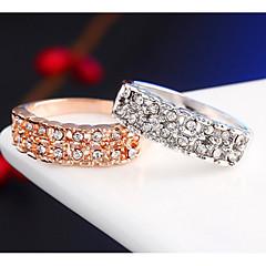 お買い得  指輪-男性用 女性用 カップルリング クリスタル ファッション シンプルなスタイル 合金 コスチュームジュエリー 結婚式 パーティー 日常 カジュアル