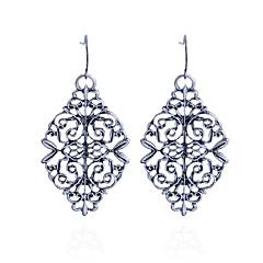 preiswerte Ohrringe-Damen Hohl Tropfen-Ohrringe - versilbert Blume Grabado Silber Für Party / Alltag / Normal