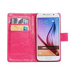 voordelige Overige hoesjes / covers voor Samsung-hoesje Voor Samsung Galaxy Samsung Galaxy hoesje Kaarthouder met standaard Flip 360° rotatie Volledig hoesje Effen Kleur PU-nahka voor Z3