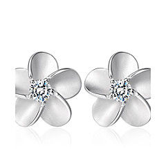 Lureme®  Korean Fashion 925  Sterling Silver Alice Zircon Earrings