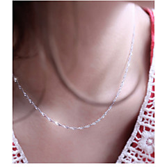 Women's Chain Necklace Silver Plated Chain Necklace , Wedding Party Daily Casual