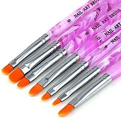 סט 1 (7 יח ') ציור עט מברשת בונה אמנות ציפורן אקריליק ג'ל UV החדש