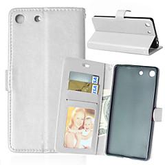 Для Кейс для Sony / Xperia Z5 / Xperia Z3 Бумажник для карт / Кошелек / со стендом / Флип Кейс для Чехол Кейс для Один цвет Твердый