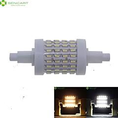 cheap LED Bulbs-SENCART 7W 550-600 lm R7S LED Corn Lights Recessed Retrofit 72 leds SMD 4014 Dimmable Warm White Cold White AC 85-265V