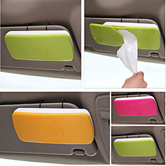 Χαμηλού Κόστους -κάτοχος χαρτί για τον ήλιο αυτοκίνητο κουτί γείσο ιστού με θήκη κλιπ αξεσουάρ αυτοκινήτων