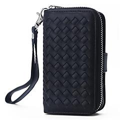Недорогие Кейсы для iPhone 5-искусственная кожа молния сумки бумажник кошелек с крышкой телефон случае слот для карт Apple IPhone 5 / 5s