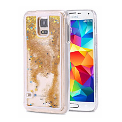 billige Galaxy Note 5 Etuier-Etui Til Samsung Galaxy Samsung Galaxy Note Flydende væske Bagcover Glitterskin PC for Note 5 Note 4 Note 3