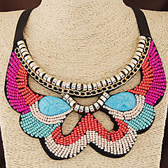 preiswerte Halsketten-Damen Halsketten / Kragen - Harz Böhmische, Europäisch, Modisch Orange, Blau Modische Halsketten Schmuck Für Hochzeit, Party, Alltag