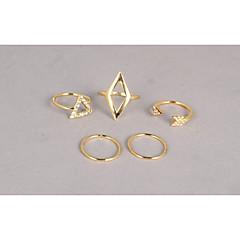 お買い得  指輪-女性用 ジュエリーセット  -  合金 調整可 ゴールデン 用途 パーティー 日常 カジュアル