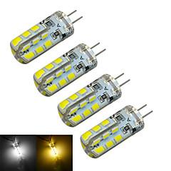 お買い得  LED 電球-g4 ledバイピンライトt 24 smd 2835 126〜150lm暖かい白冷たい白3000〜3200k / 6000〜6500k装飾的なdc 12v