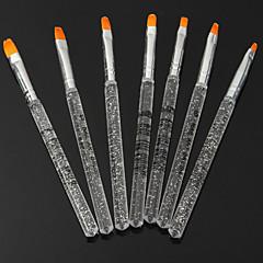 7pcs כלים מסמר מוט שקוף עט טיפול באור צבעוני