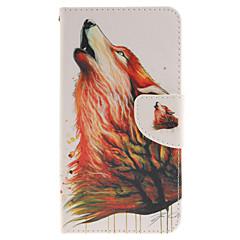 Недорогие Чехлы и кейсы для LG-Кейс для Назначение LG Кейс для LG Бумажник для карт Кошелек со стендом Флип Чехол Животное Твердый Кожа PU для
