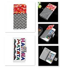 Недорогие Кейсы для iPhone-Кейс для Назначение iPhone 5 Apple Кейс для iPhone 5 Бумажник для карт Флип Чехол Мультипликация Твердый Кожа PU для iPhone SE / 5s