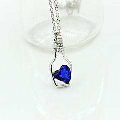 preiswerte Halsketten-Damen Kristall Anhängerketten - Krystall Herz, Liebe Modisch Grün, Rosa, Hellblau Modische Halsketten Für Hochzeit, Party, Alltag