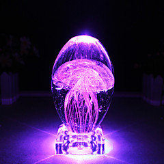 abordables Ofertas Especiales-lámpara de mesa de luz de la noche medusas coloridas luz de la noche novela artesanías de cristal llevó la lámpara de la noche atmósfera luminosa luz gife
