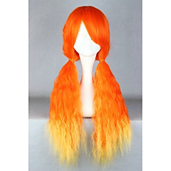 tanie -Peruki Lolita Sweet Lolita Orange Przejście kolorów Peruki Lolita 70 CM Peruki Cosplay Patchwork Peruka Na