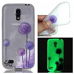 Mert Samsung Galaxy tok Foszforeszkáló Case Hátlap Case Pitypang TPU Samsung S6 edge plus / S6 / S5 / S4 Mini / S3
