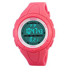 Damskie Sportowy Modny Cyfrowe Alarm Kalendarz Chronograf Wodoszczelny Sportowy LED PU Pasmo Czarny Niebieski Zielnony Różowy