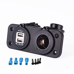 Недорогие Автоэлектроника-iztoss новый 12-24v прикуривателя 5v 3.1A двойной USB-адаптер для мотоциклов авто с.в. лодке