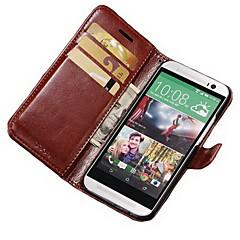 ケース 用途 HTC HTCケース カードホルダー ウォレット スタンド付き フリップ フルボディー 純色 ハード PUレザー のために HTC One M8