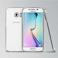Para Funda Samsung Galaxy Transparente Funda Cubierta Trasera Funda Un Color TPU Samsung S6 edge