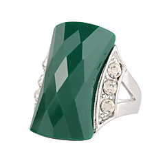 Ringen Bruiloft / Feest / Dagelijks / Causaal Sieraden Legering / Hars / Strass / Verzilverd Dames / Heren Ring 1 stuks,6 / 8 / 9 / 10¼