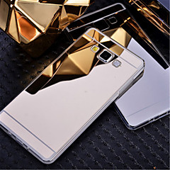 Na Samsung Galaxy Etui Galwanizowane / Lustro Kılıf Etui na tył Kılıf Jeden kolor PC Samsung A8 / A7 / A5 / A3