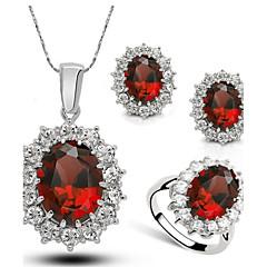 Női jelmez ékszerek Kristály Ötvözet Nyakláncok Naušnice Gyűrűk Kompatibilitás Esküvő Parti Napi Hétköznapi Esküvői ajándékok
