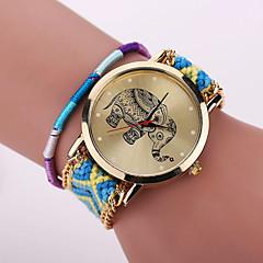 Xu™ Mulheres Relógio de Moda Bracele Relógio Quartzo Relógio Casual Tecido Banda Flor Boêmio Cores MúltiplasCafé Azul Rosa claro