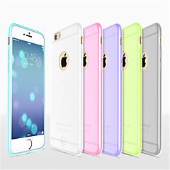 Недорогие Кейсы для iPhone 6 Plus-Кейс для Назначение Apple iPhone 8 iPhone 8 Plus iPhone 6 iPhone 6 Plus Ультратонкий Матовое Полупрозрачный Кейс на заднюю панель
