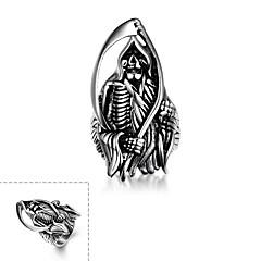 Муж. Кольцо бижутерия Нержавеющая сталь В форме черепа Бижутерия Назначение Halloween Повседневные Спорт Новогодние подарки