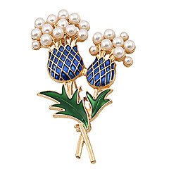 お買い得  ブローチ-女性用 ブローチ  -  真珠 ぜいたく, パーティー, オフィス ブローチ ゴールド 用途 結婚式 / パーティー / 記念日