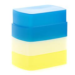 nueva silicona flexible difusor de flash de rebote caja blanda blanco + amarillo + azul para Canon 580EX II YN-568/565/560 iii
