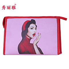 Make-up opbergsysteem Cosmetisch Tasje / Make-up opbergsysteem PU Cartoon Kwadraat 19x11.6x10cm Bruin / Rood / roze