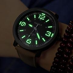 お買い得  大特価腕時計-男性用 クォーツ リストウォッチ / 軍用腕時計 カジュアルウォッチ PU バンド チャーム ブラック / ブラウン