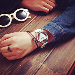 preiswerte Armbanduhren für Paare-Herrn / Damen / Paar Totenkopfuhr Transparentes Ziffernblatt PU Band Charme / Modisch Schwarz / Weiß