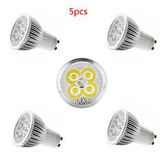 5 stk 4w e14 / gu10 / gu5.3 / e27 led spotlight 4 smd 350lm varm hvid kold hvid dekorative ac85-265v