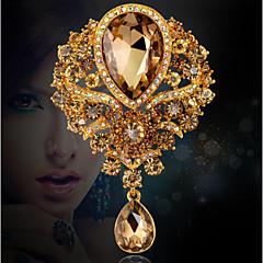 Γυναικεία Καρφίτσες Μοντέρνα κοσμήματα πολυτελείας κοστούμι κοστουμιών Κρύσταλλο Στρας Κοσμήματα Για Γάμου Πάρτι Ειδική Περίσταση