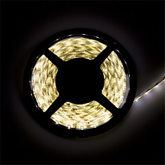 z®zdm imperméable à l'eau 5 m conduit 300 * 2835 smd DC12V blanc chaud / blanc naturel 28w ip65