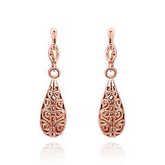 preiswerte Ohrringe-Damen Kubikzirkonia Tropfen-Ohrringe - 18K vergoldet, Kubikzirkonia, vergoldet Kreuz Gold / Rotgold Für