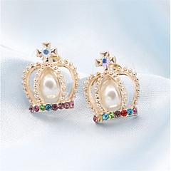 preiswerte Ohrringe-Damen Kubikzirkonia Ohrstecker Tropfen-Ohrringe - Kubikzirkonia, Platiert Europäisch, Modisch Gold Für