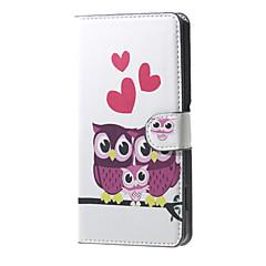 Uwielbiam Sowa rodziny wzór portfela skórzane etui z klapką stoją sprawy z gniazda kart dla Microsoft Lumia 650